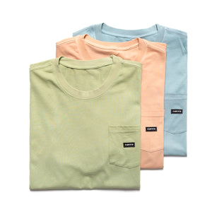 Small patch pocket T-shirt_Weed Green