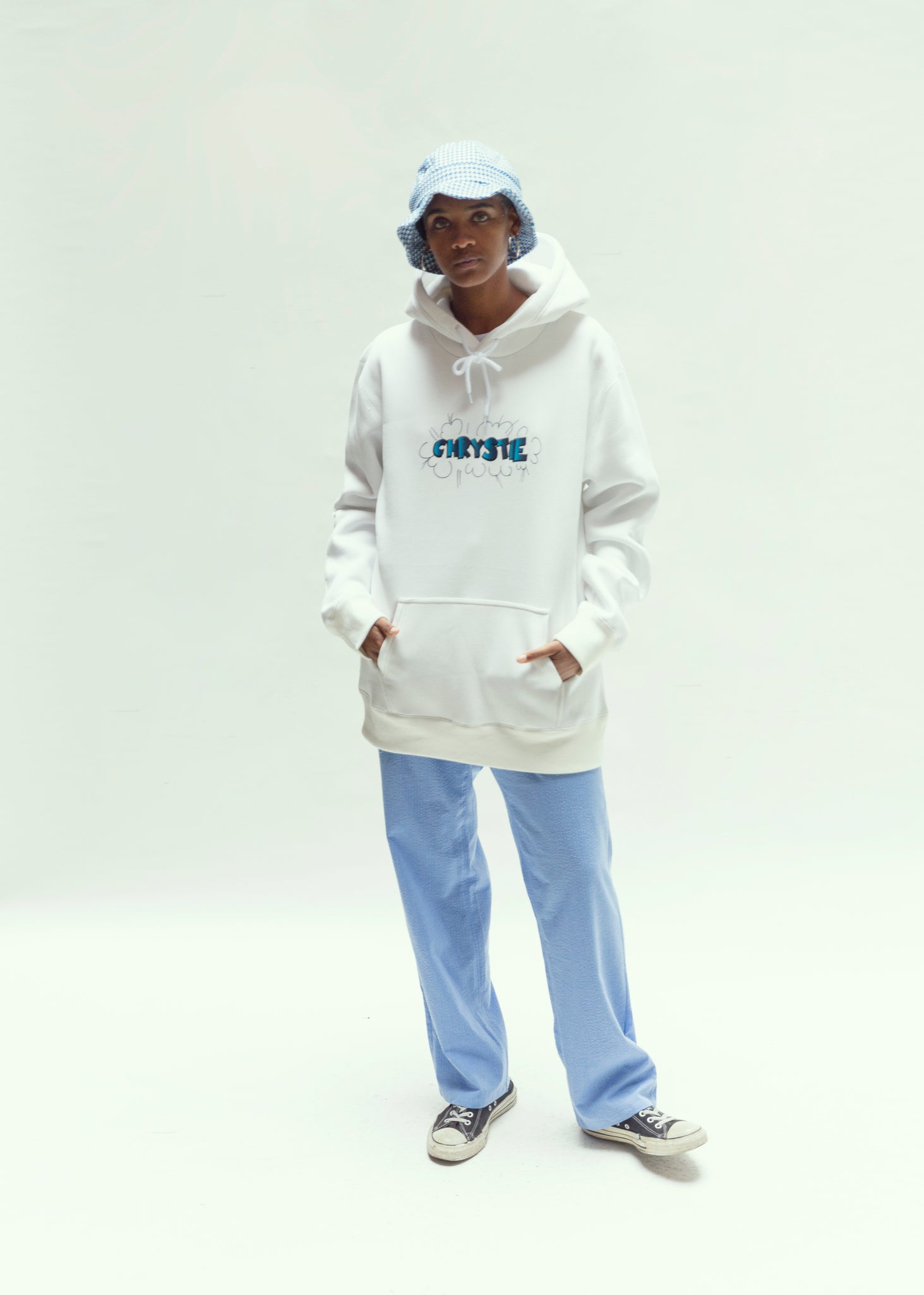 Load image into Gallery viewer, Ruscha logo pullover sweaters_White