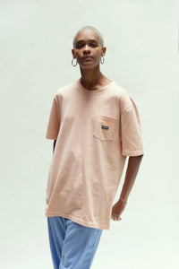 Small patch pocket T-shirt_Peach