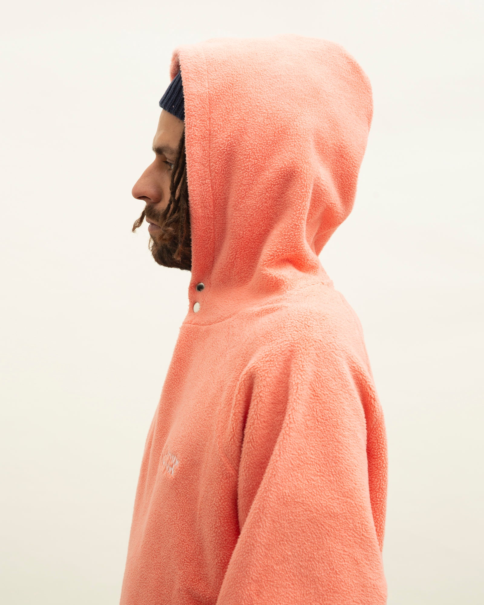 Load image into Gallery viewer, PRM Reversed Fleece Hoodie / Coral