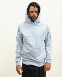 Clean cut side pockets hoodie_Sky Blue
