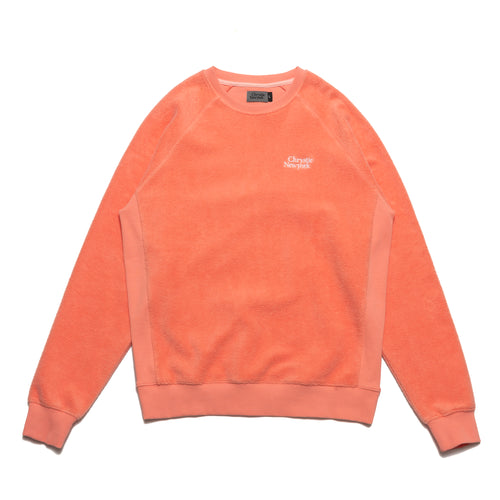 PRM Reversed Fleece Crewneck / Coral
