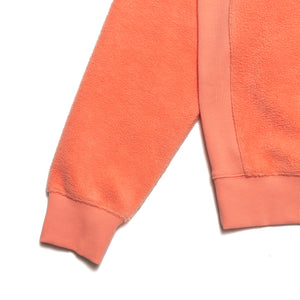PRM Reversed Fleece Hoodie / Coral
