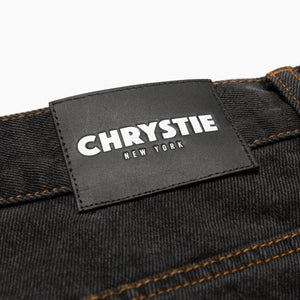 Baggy fit denim pants_Washed black