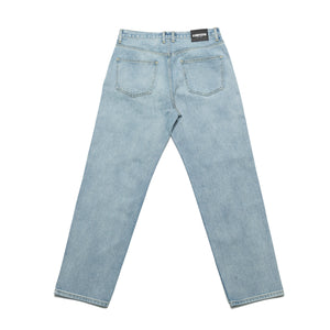 Relaxed fit denim pants_Washed blue