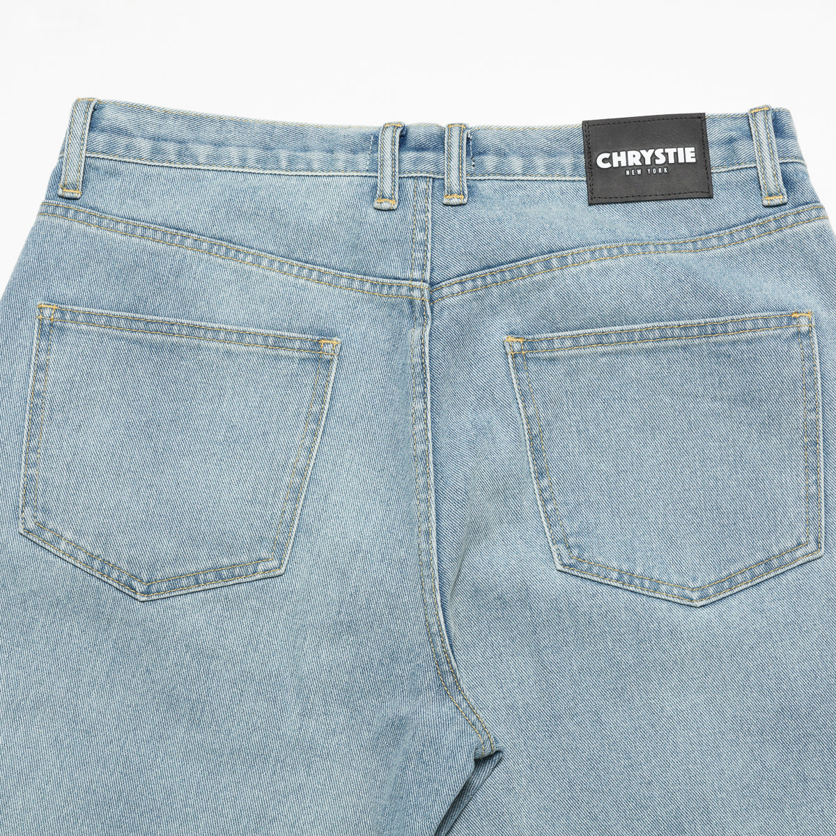 Load image into Gallery viewer, Relaxed fit denim pants_Washed blue