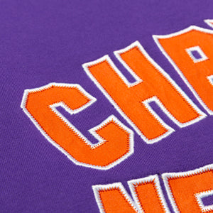 Varsity logo crewneck sweater_Purple