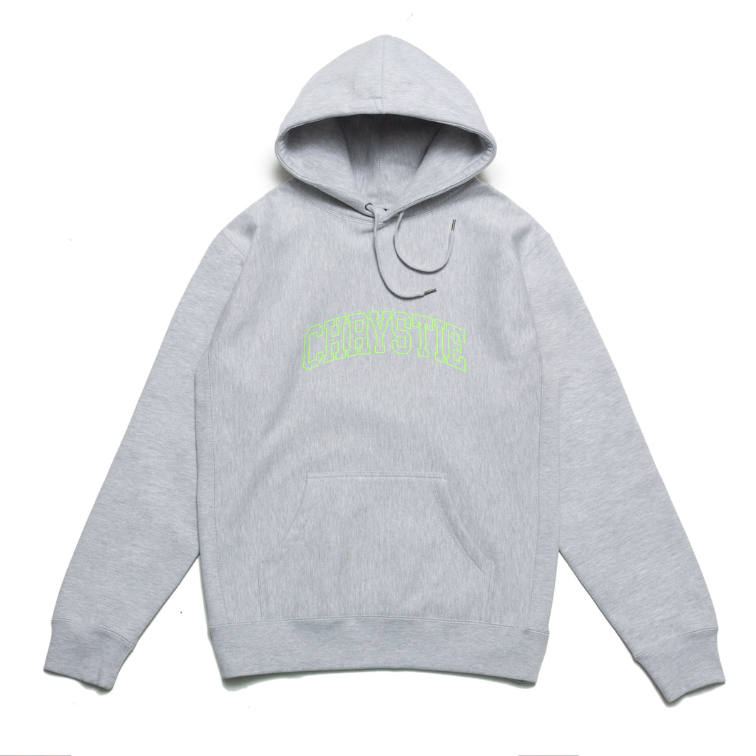 Collegiate Logo Pullover Hoodie_Heather Grey
