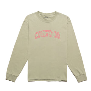 Collegiate Logo Long Sleeve Shirt / Washed Green