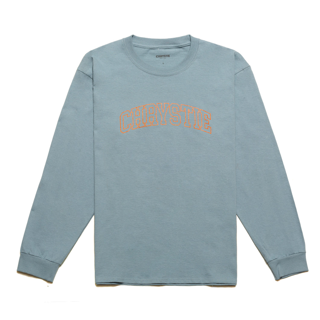 Collegiate Logo Long Sleeve Shirt / Stone Blue