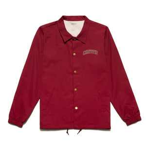 Collegiate Logo Coach Jacket_Burgundy