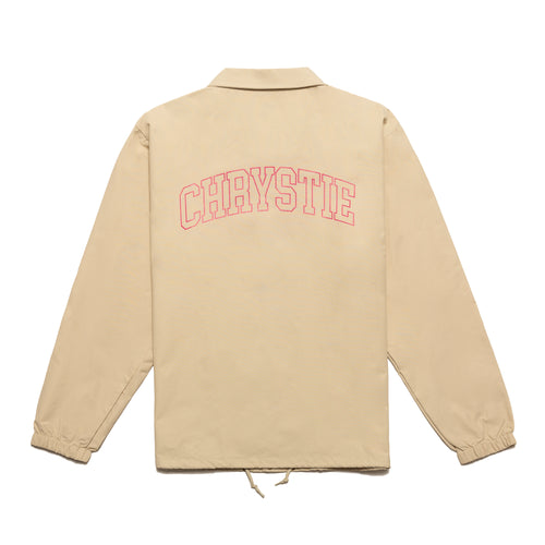 Collegiate Logo Coach Jacket_Ivory