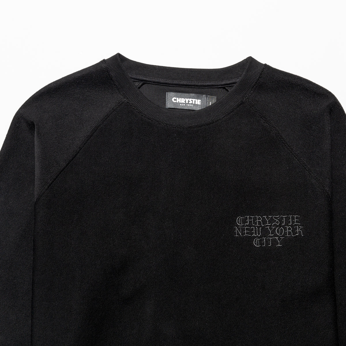 Load image into Gallery viewer, Reversed French Terry crewneck_Black