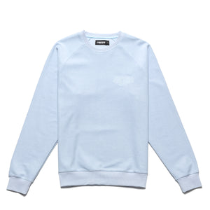 Reversed French Terry crewneck_Ice blue