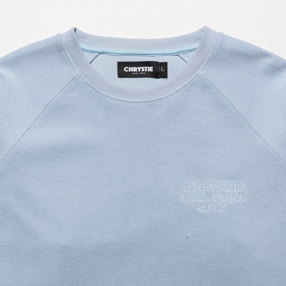 Load image into Gallery viewer, Reversed French Terry crewneck_Ice blue