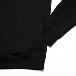 Clean cut side pockets hoodie_Black