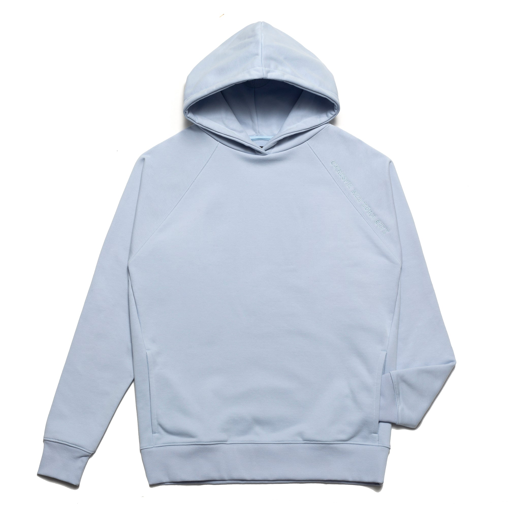 Load image into Gallery viewer, Clean cut side pockets hoodie_Sky Blue