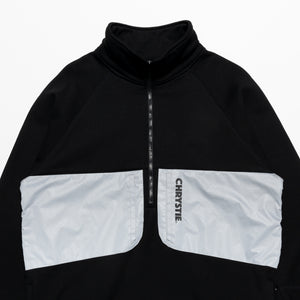Mock Neck Halfzip Polar Fleece Sweater / Black 3M
