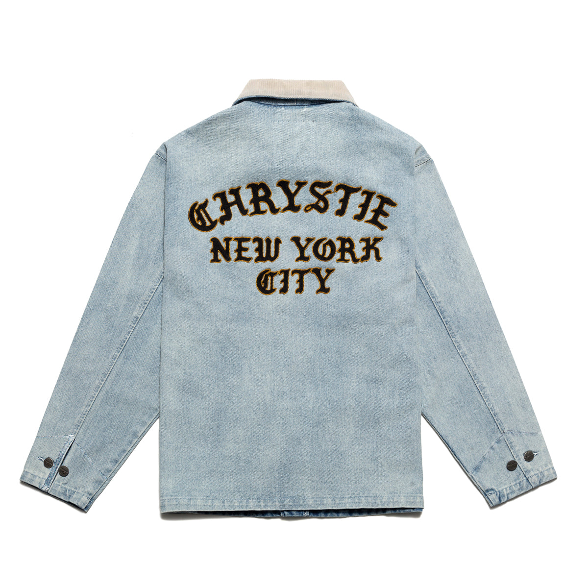 Load image into Gallery viewer, Chain stitch embroidery logo denim jacket