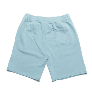 Garment dye Classic logo French Terry sweatshorts_Washed Blue
