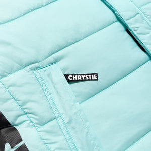 Chrystie OG Logo Puffer Vest_Light Blue