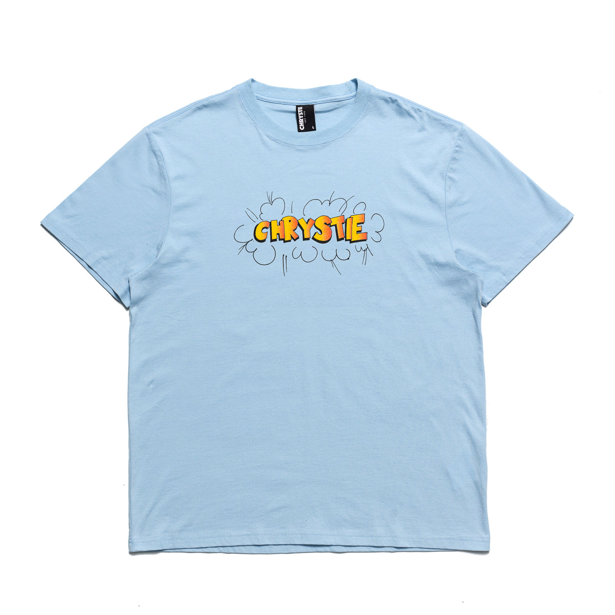 Load image into Gallery viewer, Ruscha logo T-shirts_Light Blue