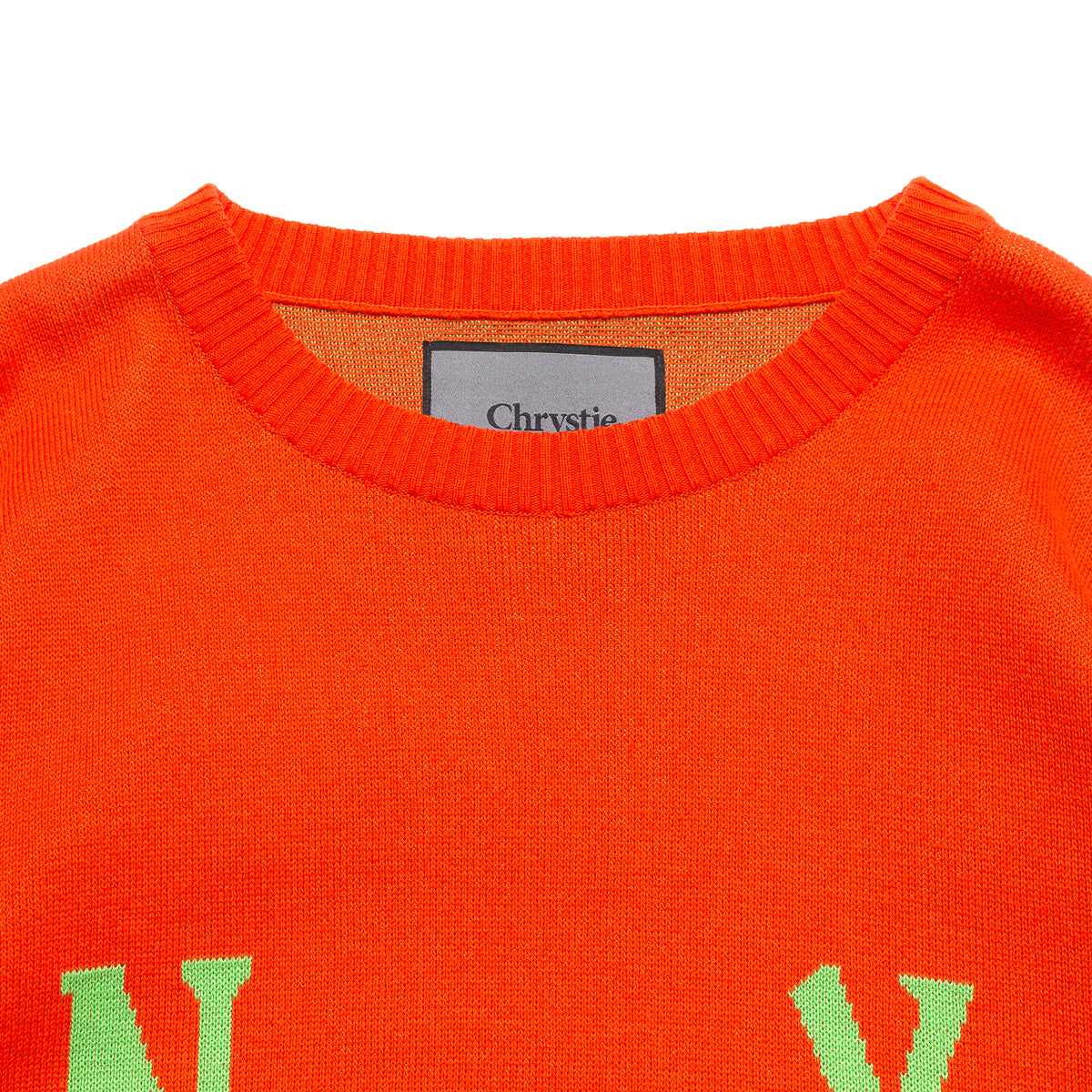 Load image into Gallery viewer, Smile Logo Knit Sweater_Orange