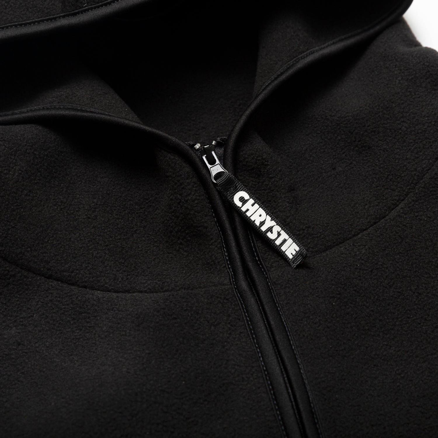 Load image into Gallery viewer, Chrystie OG Logo Polar Fleece Pullover Hoodie_Black