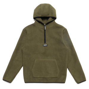 Chrystie OG Logo Polar Fleece Pullover Hoodie_Military Green