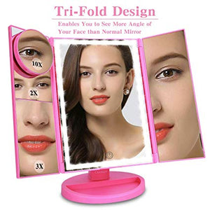 Touch Screen Makeup Mirror with LED Lights