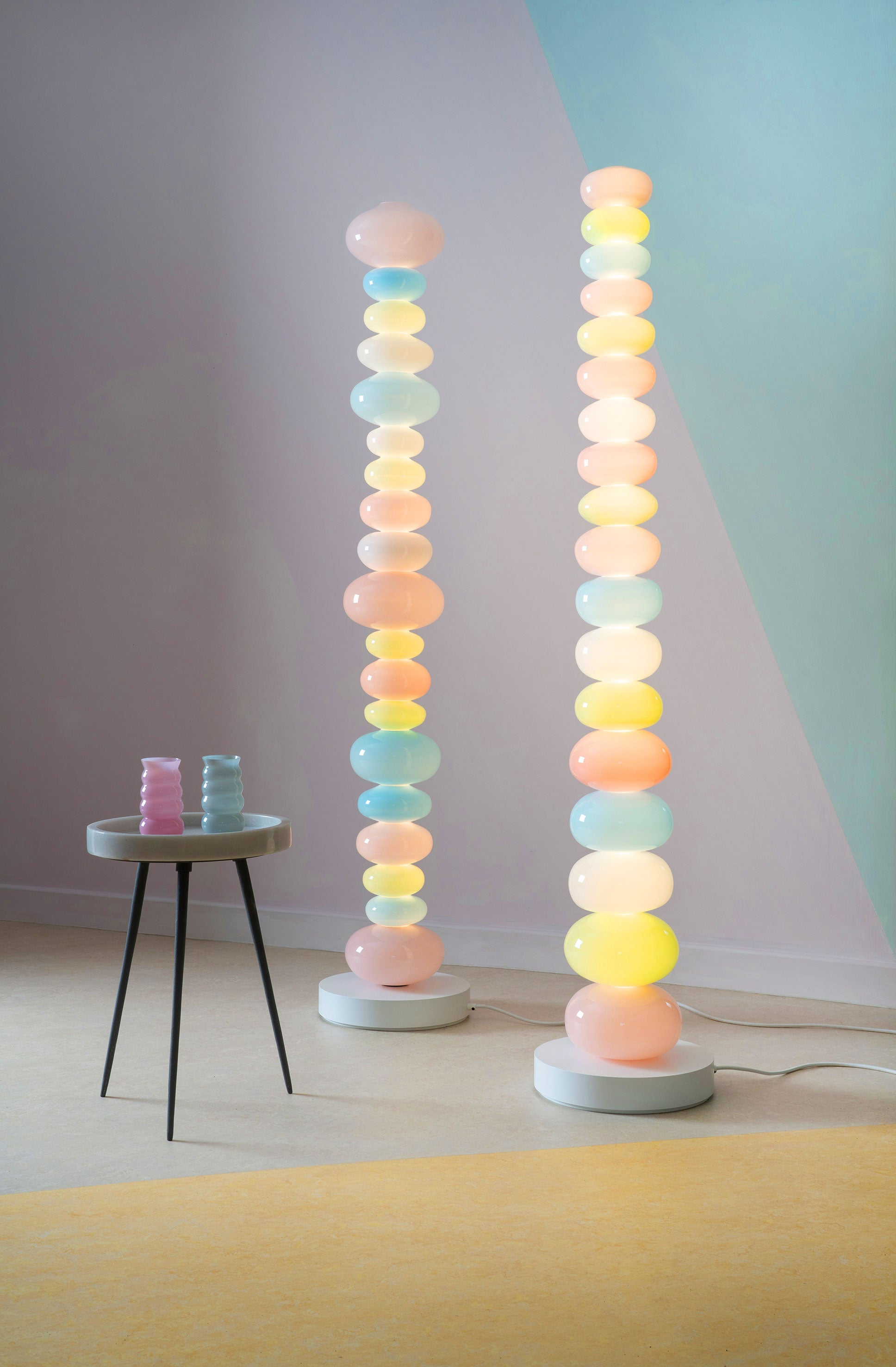 Glowbule Lights, pendants, and lamps, by Adam Nathaniel Furman for Curiousa and Curiousa, handblown, made in the UK