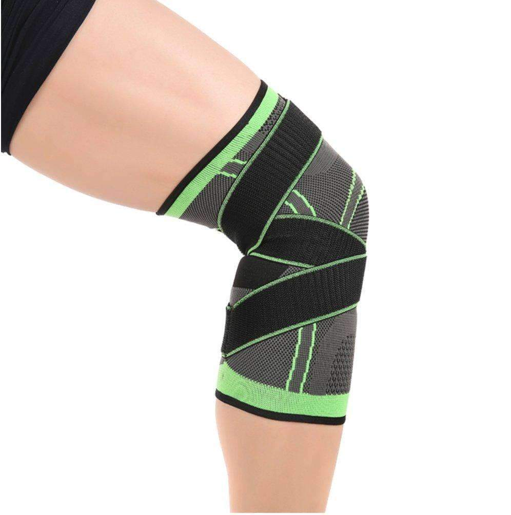 3D Weaving Knee Sleeve with Strap - For Protection and Support ,knee wrap - Gym Beast Mode