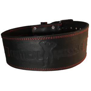 Critical Muscle-Genuine Leather Weightlifting Power Belt