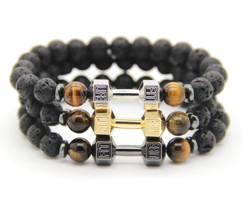FREE Fitness Fashion Dumbbell Bracelet ,Bracelets - Gym Beast Mode