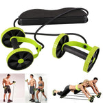 Double Roller Abdominal Trainer With Knee Mat ,ab roller - Gym Beast Mode