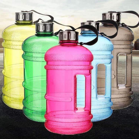 2.2L Large Capacity Water Bottles for Hydration ,Bottle - Gym Beast Mode