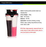 A Powerful Leakproof Dual Protein Shaker Bottle - inshapekit