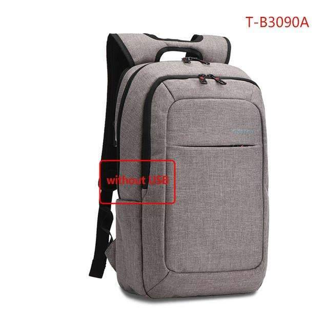 Waterproof Canvas Men's Backpack Bag - 14.1 Inch Laptop and Mobile Phone Charging ,bag - Gym Beast Mode