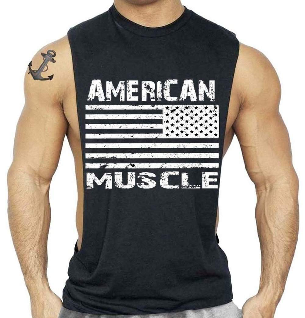 American Muscle Tank Top - Premium Quality ,tank top - Gym Beast Mode