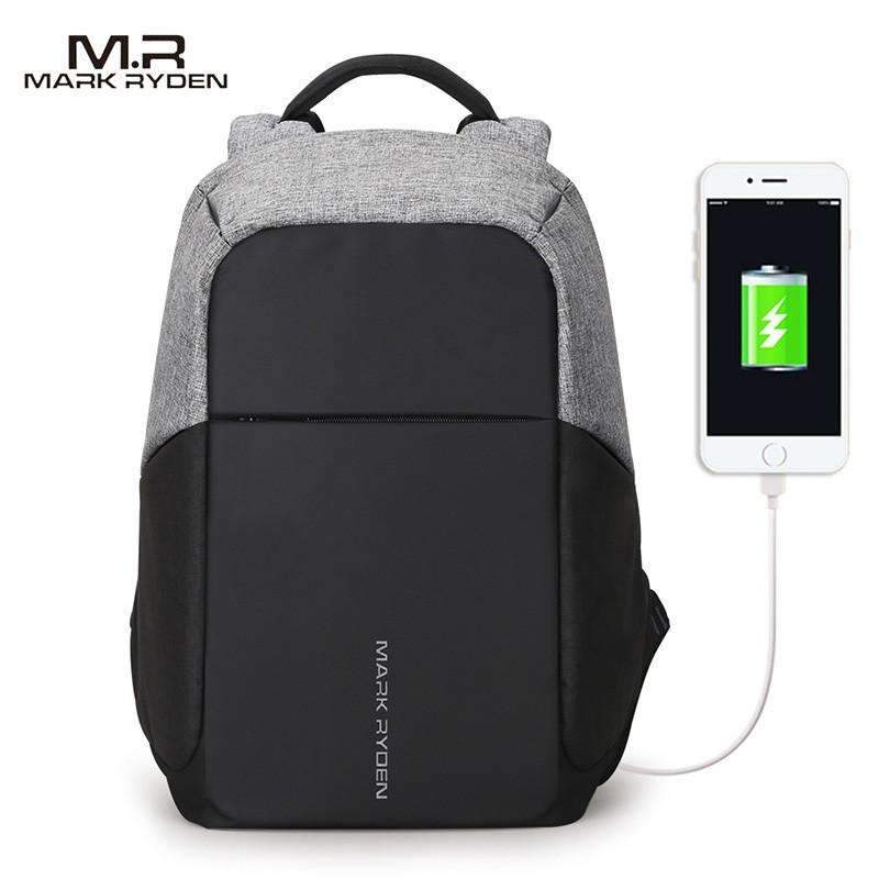 Mark Ryden™ Collection Anti-Theft Waterproof Backpack with USB Charging Port ,bag - Gym Beast Mode