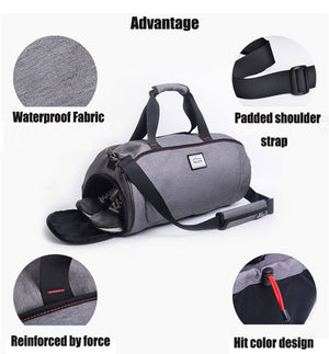Waterproof Gym Bag With Separate Shoe Compartment - Critical Muscle