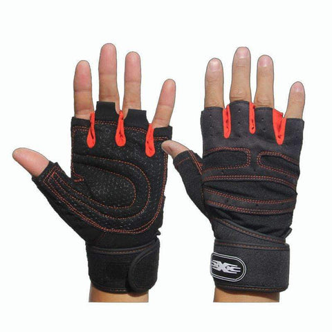 FREE Non-Slip Gym Gloves for Bodybuilding and Fitness with wrist wraps ,Gym Gloves with Wrist Wraps - Gym Beast Mode