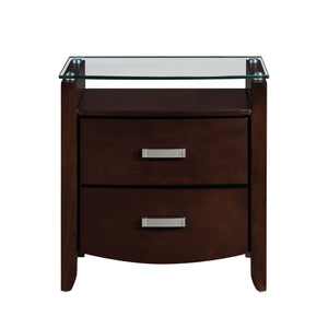 1737NC-4 Night Stand, Glass Top