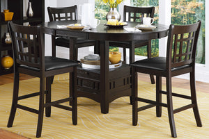 2423-36 Round / Oval Counter Height Table with Storage Base