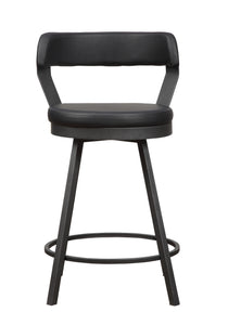 5566-24BK Swivel  Counter  Height Chair, Black
