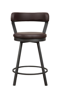 5566-24BR Swivel Counter  Height Chair, Brown
