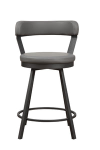 5566-24GY Swivel Counter Height Chair, Gray