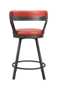 5566-24RD Swivel Counter Height Chair, Red