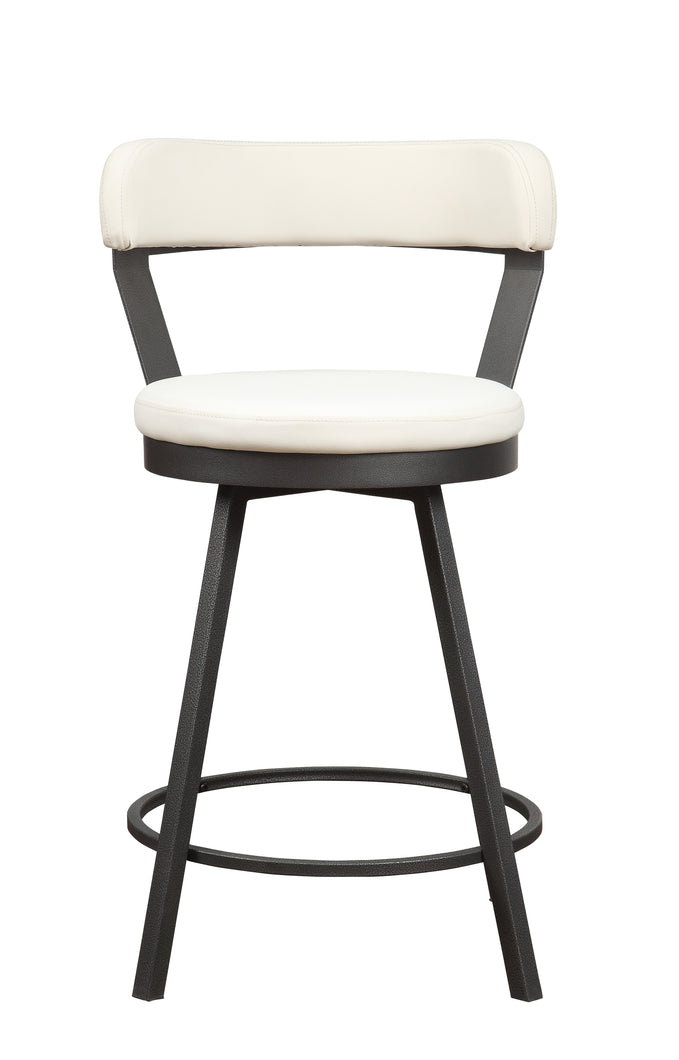 5566-24WT Swivel Counter Height Chair, White
