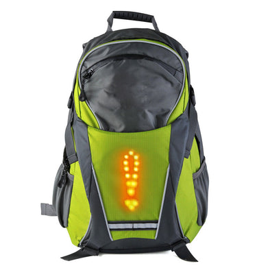 Turn Signal Light LED Reflective Sport Backpack 18 Liter Waterproof for Night Cycling Safety Outdoor …